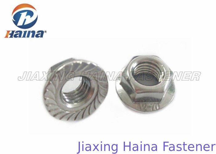 Stainless Steel Nuts M12 DIN6923 Serrated Hex Flange Nuts in Stock
