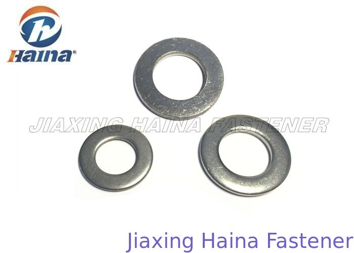 A2 A4 Copper Flat Washers M6 - M56 Nickel Finish For Mechanical Machine