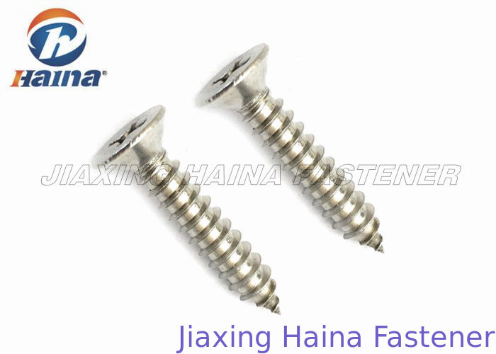 Countersunk Self Tapping Screws A2 A4 Stainless Steel Cross Recessed DIN7997