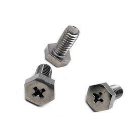 SS304/316 Carbon Steel Stainless Machine Screws Hex / Square Head M2 - M52